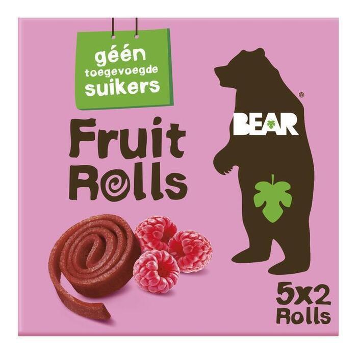 Bear Fruitsnack framboos yoyo snoeprolletjes (100g)