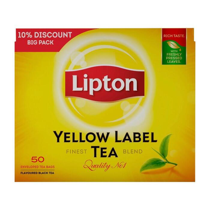 Yellow Label Tea (doos, 50st) (zakjes, 75g)