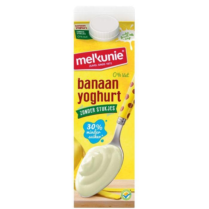 Banaan Yoghurt zonder stukjes (pak, 1L)