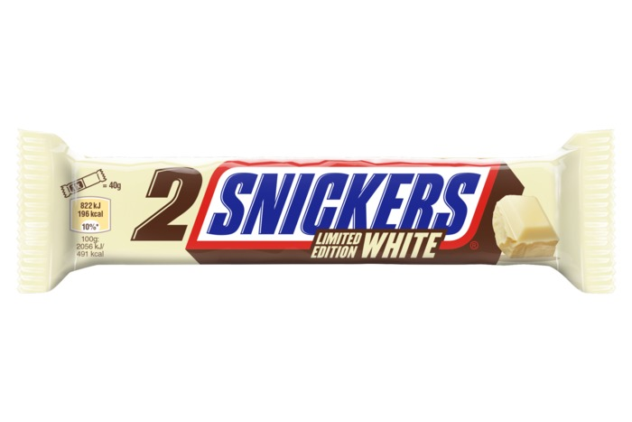 SNICKERS WHITE Chocolade met vulling 80g Wikkel (2 × 40g)