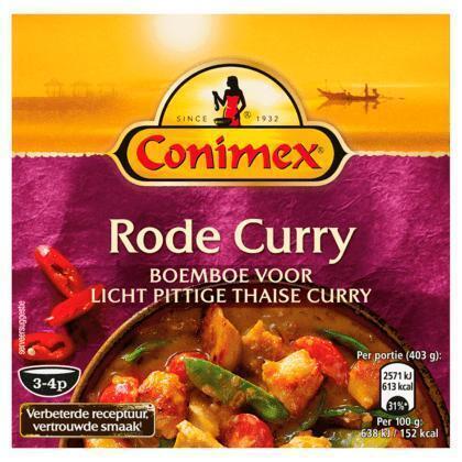 Kruidenpasta Rode Curry (bak, 95g)