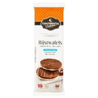 Continental Bakeries Rijstwafels Melkchocolade 3 x 3 Stuks 150 g (Stuk, 50g)