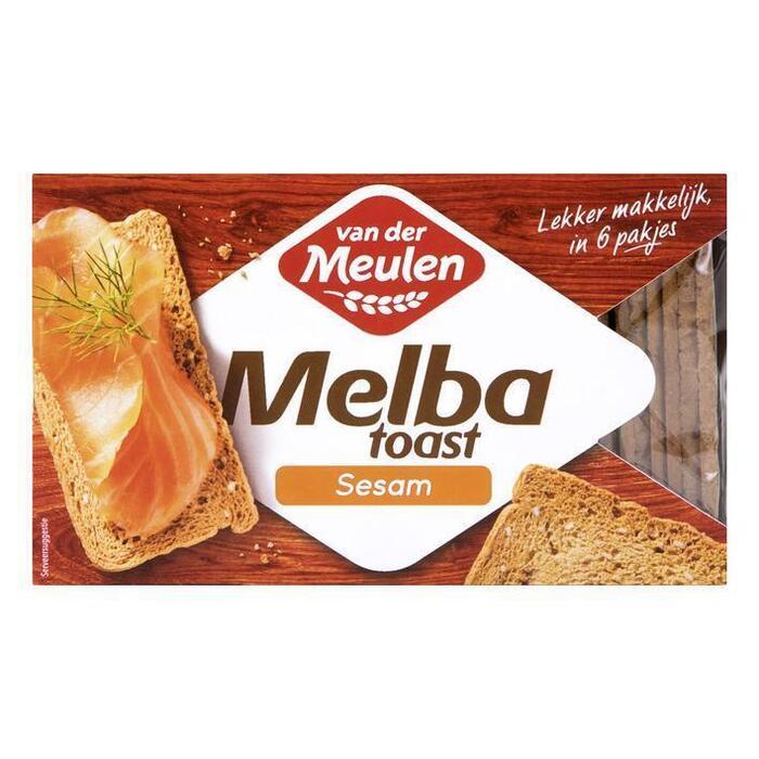Van der Meulen Melba toast sesam (120g)
