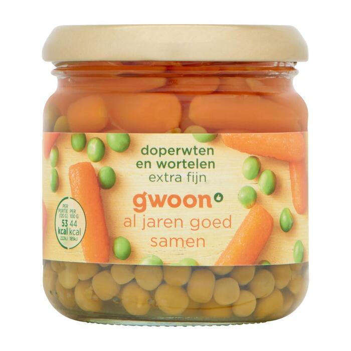 g'woon Doperwten en wortelen (180g)