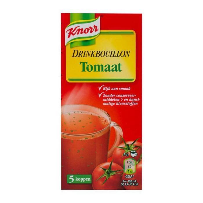 Drinkbouillon Tomaat (5 zakjes x 8.1g) (doos, 5 × 8.1g)