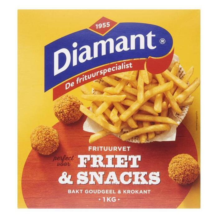 Diamant Friet & snacks vast frituurvet (4 × 250g)