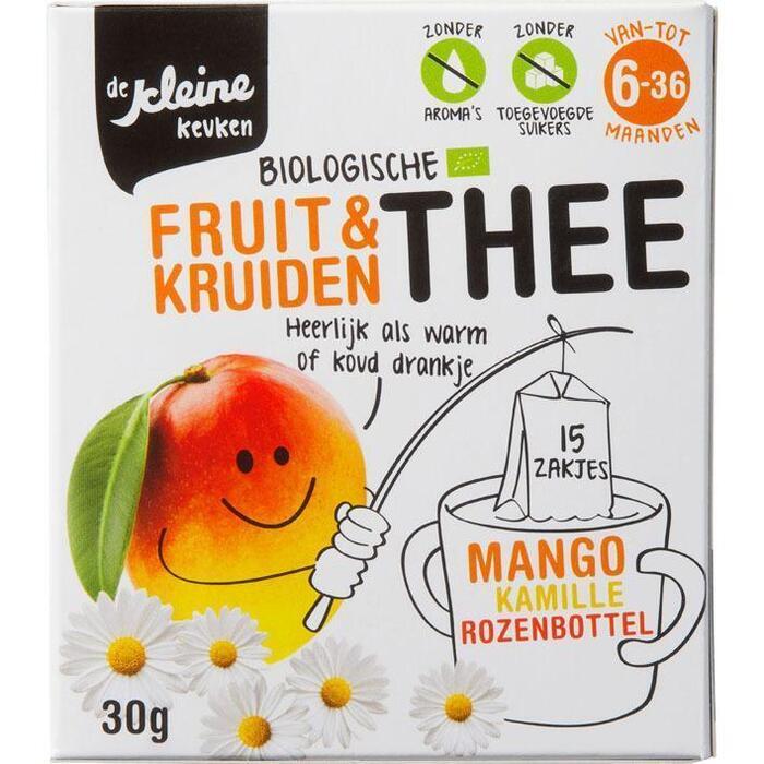 De Kleine Keuken Thee mango bio 6 mnd (15 × 30g)
