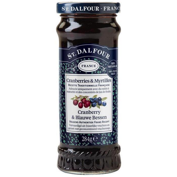 Cranberry & blauwe bessen vruchtenspread (284g)