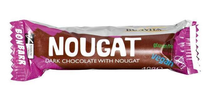 Bonbarr Dark chocolate & Nougat bar (wikkel, 40g)