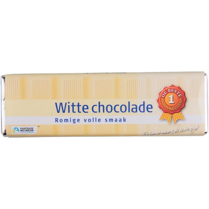 Chocoladereep wit fairtrade (100g)