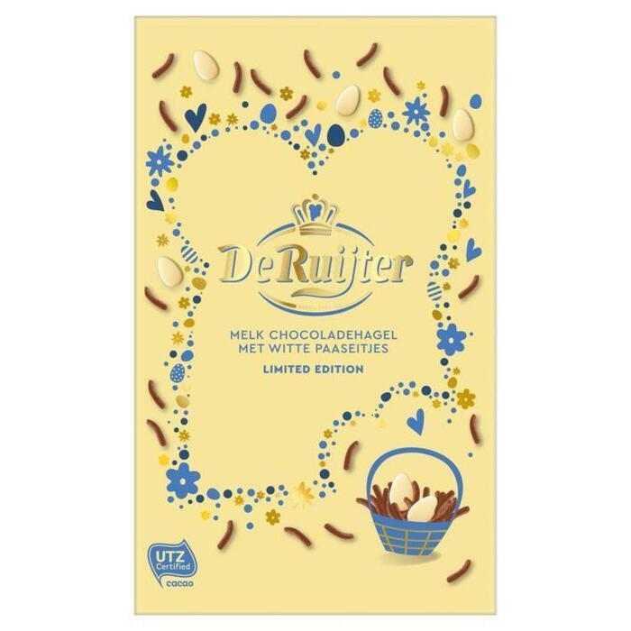 De Ruijter Mix Melk Chocoladehagel met Witte Paaseitjes 380 g Doos (380g)