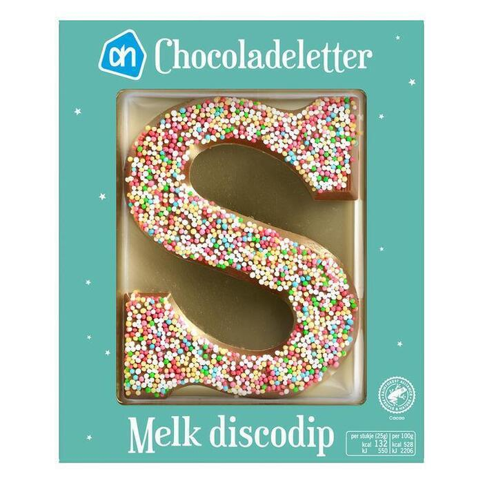 AH Chocoladeletter melk discodip (75g)