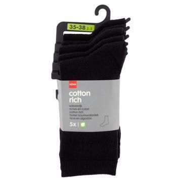 HEMA Sokken Zwart 35-38 - 5 Stuks