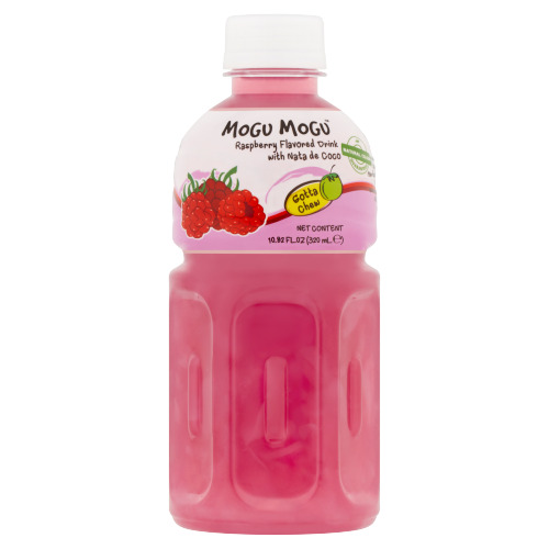 Mogu Mogu Framboos Smaak met Nata de Coco 320ml (32cl)
