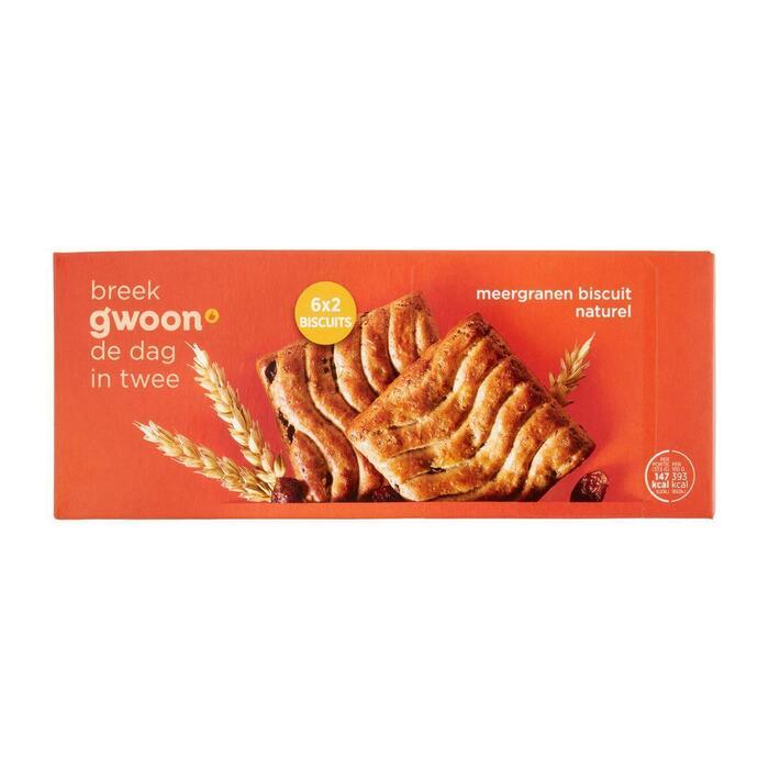 Meergranen biscuit krenten en rozijnen (5 × 37.5g)