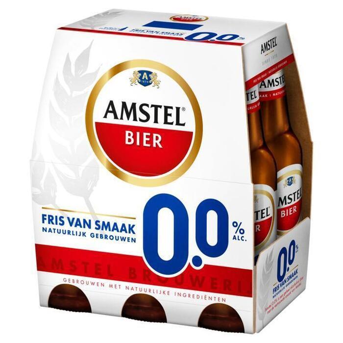 Amstel bier 0.0% (rol, 6 × 30cl)