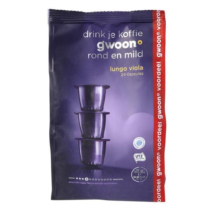 g'woon Lungo viola capsules sterkte 4 voordeelverpakking (24 × 24g)