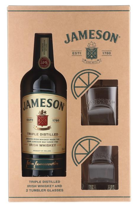 Jameson met 2 glazen (0.7L)