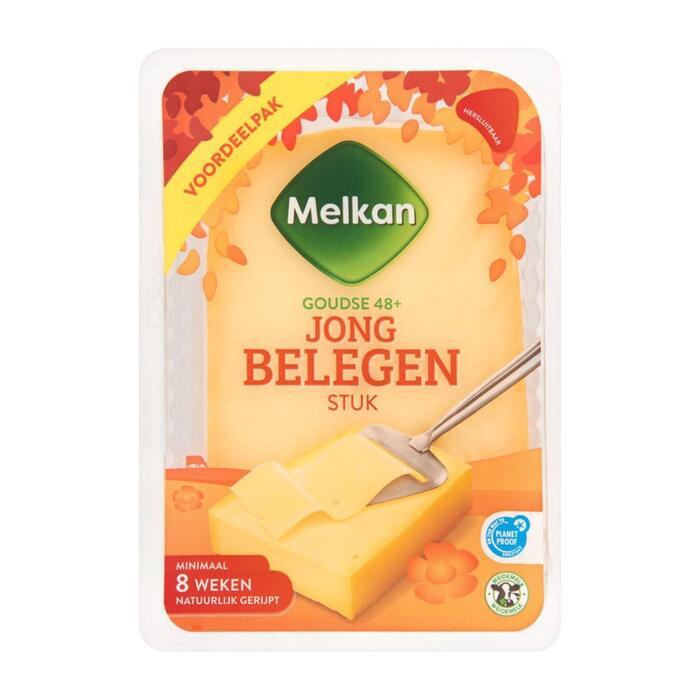 Melkan Jong belegen kaas 48+ stuk (930g)