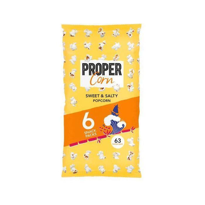 Propercorn Sweet & salty 6-packs (6 × 84g)