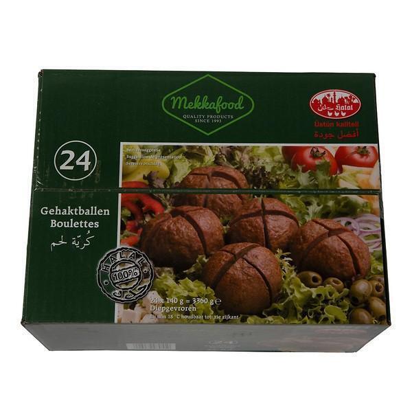 Mekkafood Gehaktballen 24 x 140 g (140g)