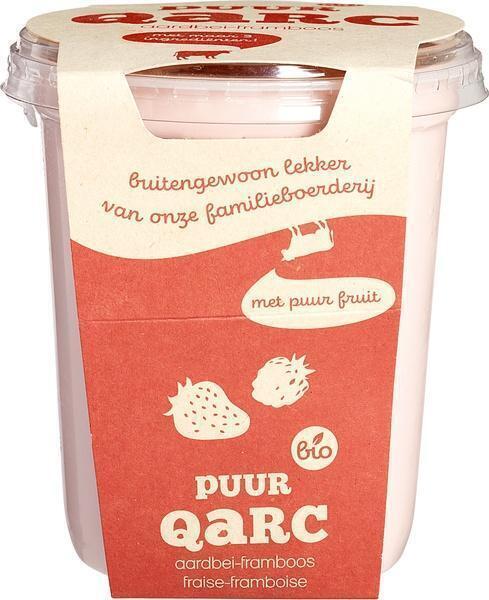Halfvolle kwark aardbei framboos (400g)
