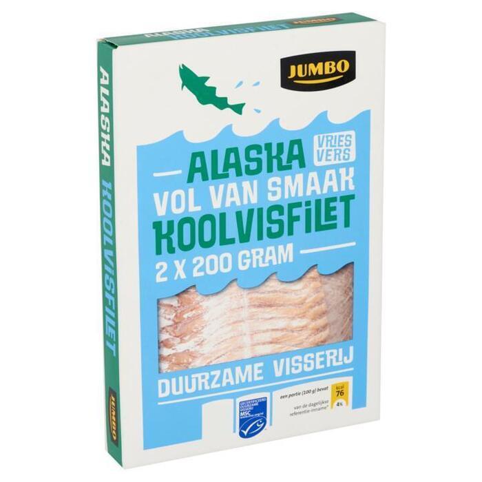 4 Alaska Koolvisfilets (doos, 2 × 200g)
