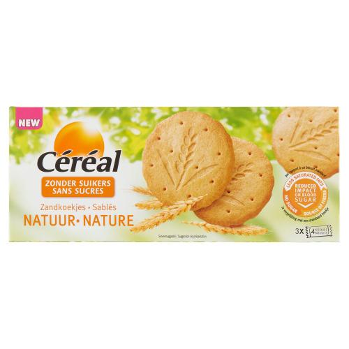 Céréal Zonder Suikers Zandkoekjes Natuur 12 Stuks 132 g (132g)