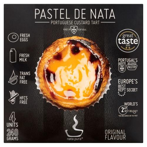 Nata Pura Pastel de Nata Original Flavour 4 Stuks 240 g (4 × 240g)