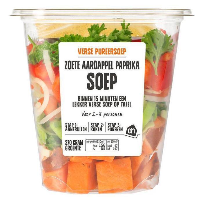 AH Pureersoep zoete aardappel paprika (480g)