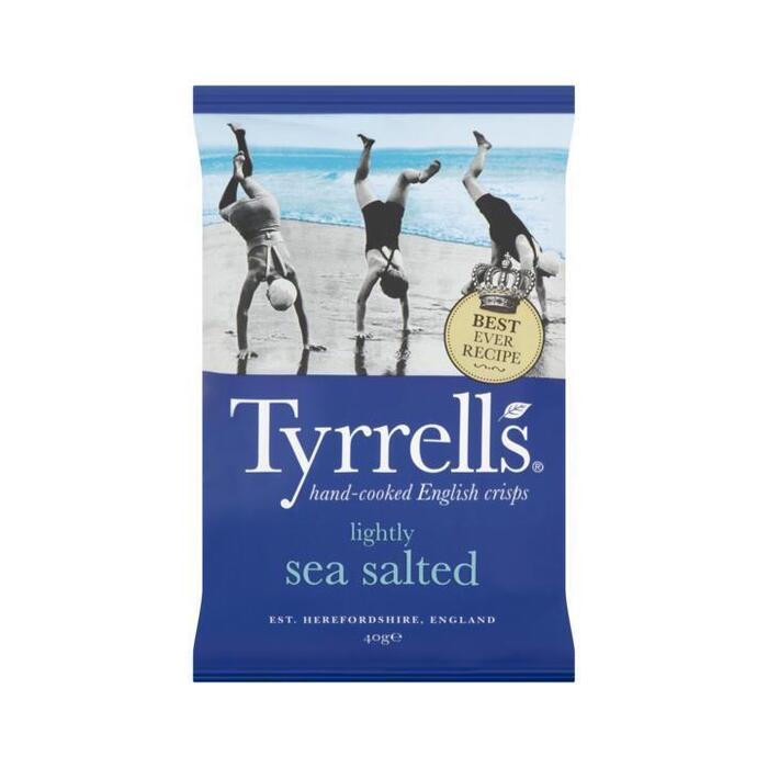 Tyrrells Aardappelchips met Zeezout 40 g (40g)