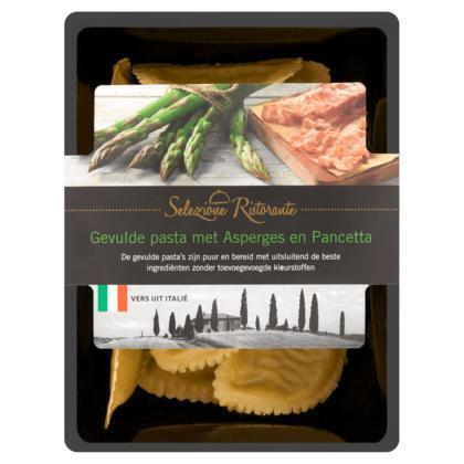 Selezione Ristorante Gevulde Pasta met Asperges en Pancetta 250 g (250g)