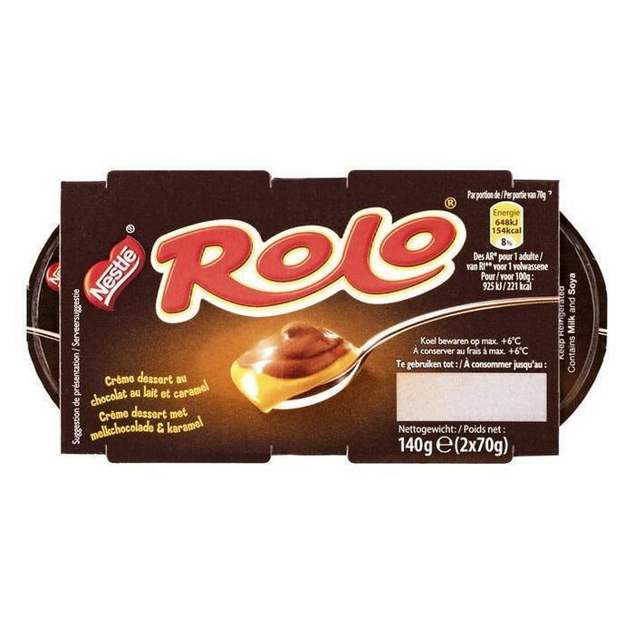 Rolo Crème Dessert 2 x 70g (2 × 70g)