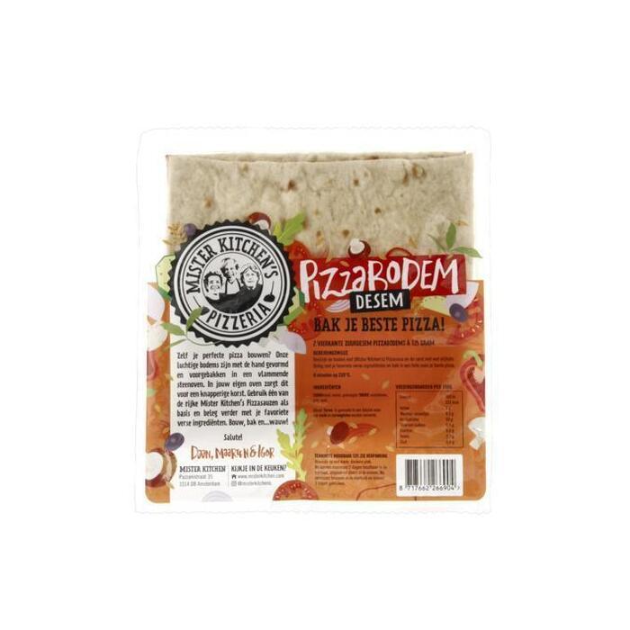 Mister Kitchen Pizzabodem desem (vierkant) (2 × 250g)