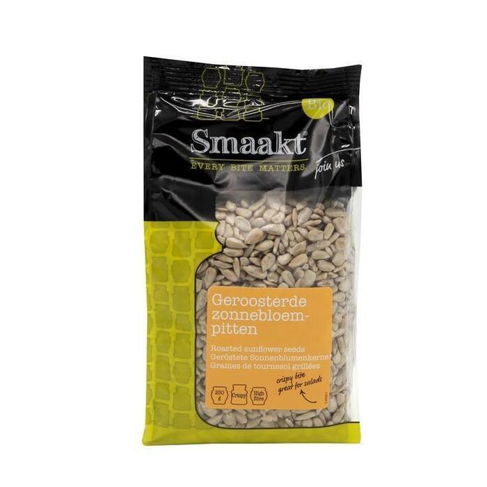 Smaakt Bio Geroosterde Zonnebloempitten 250 g (250g)