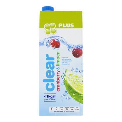 Plus Clear Cranberry Limoen (rol, 1.5L)