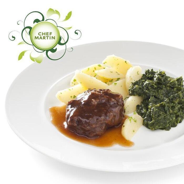 Chef Martin Gehaktbal met spinazie en aardappeltjes (505g)
