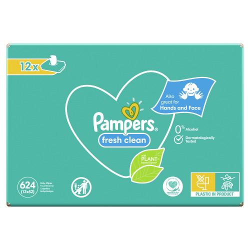 Pampers Baby Wipes Fresh Clean 12 stuks