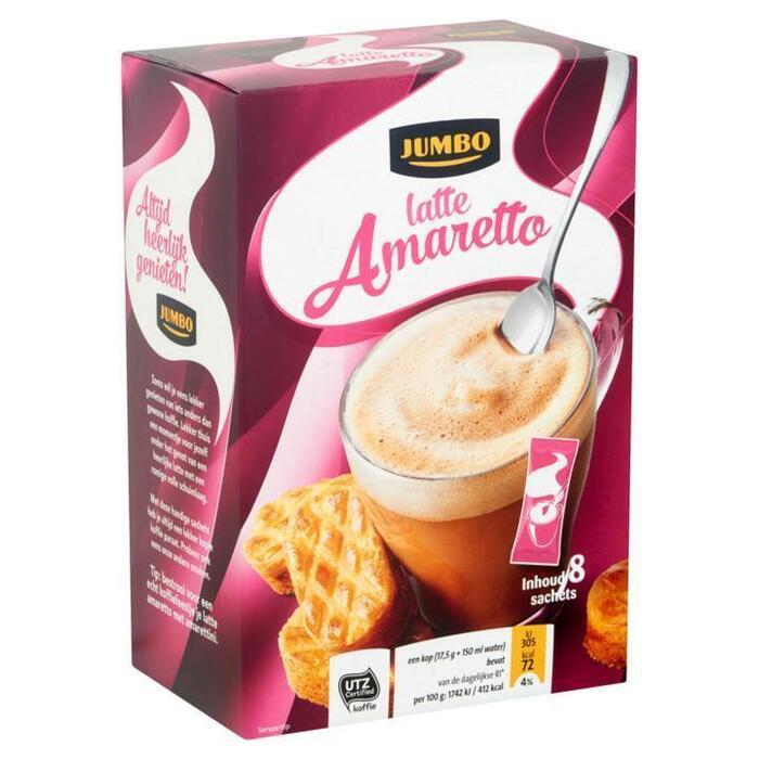 Jumbo Latte Amaretto 8 Sachets 140 g (140g)