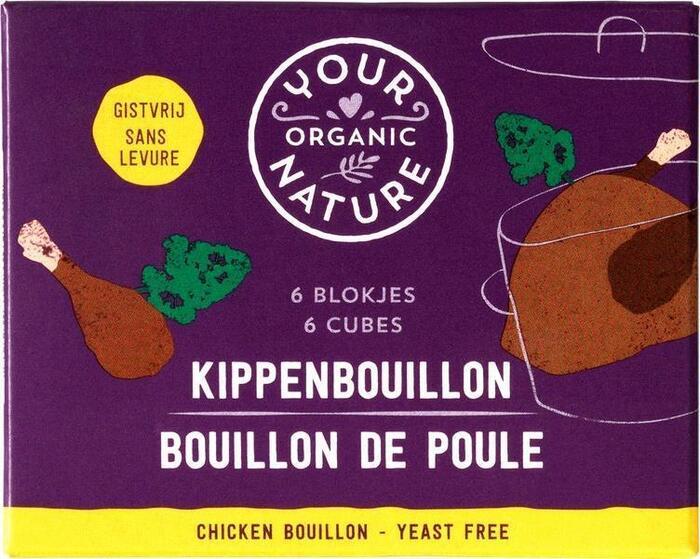 Heldere kippenbouillonblokjes zonder gist (66g)