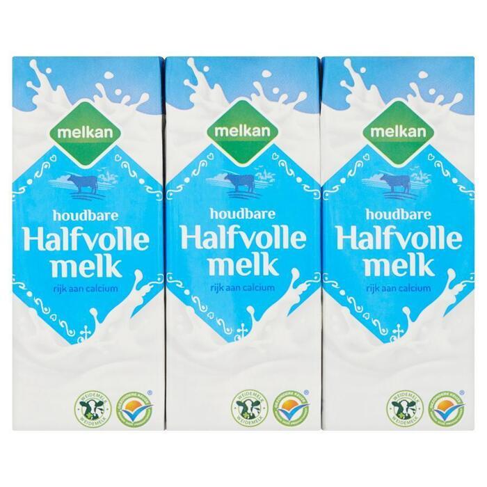 Houdbare halfvolle melk (pak, 6 × 1.2L)
