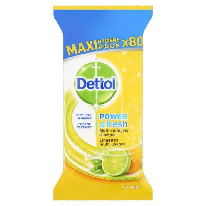Power&fresh citrus doekjes (80 st.)