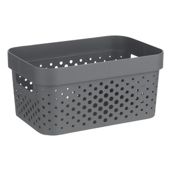 Curver Infinity box dot grijs 4,5 liter
