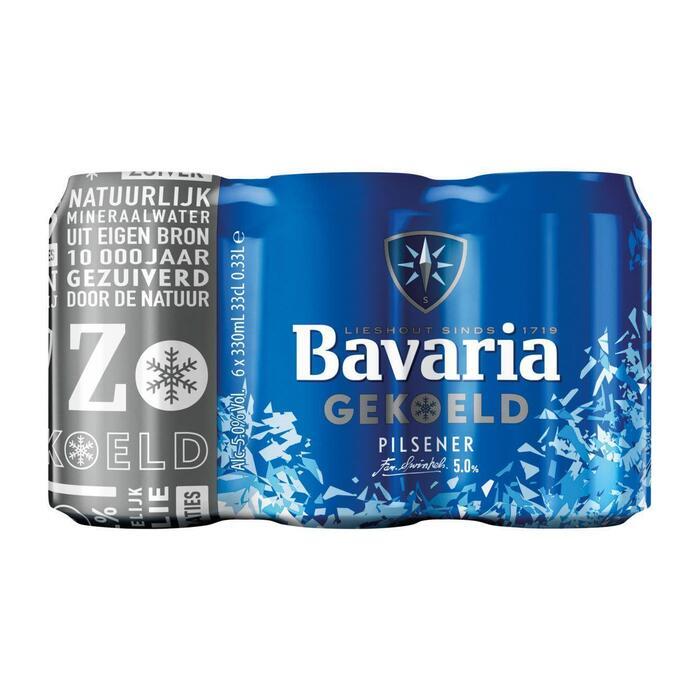 Bavaria Bier gekoeld blik 6 x 33 cl (6 × 33cl)