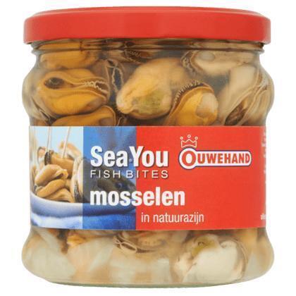 Ouwehand Mosselen in naturel azijn (355g)