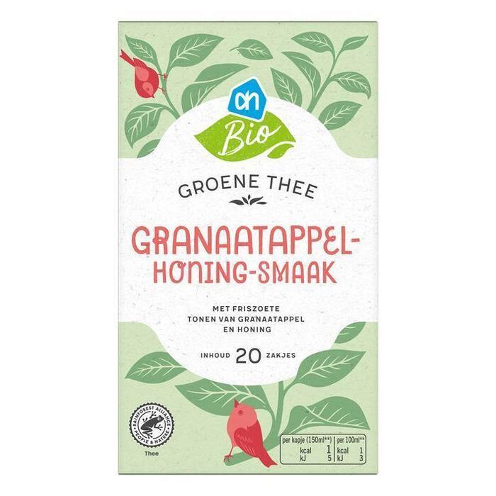 AH Biologisch Groene thee granaatappel- & honingsmaak