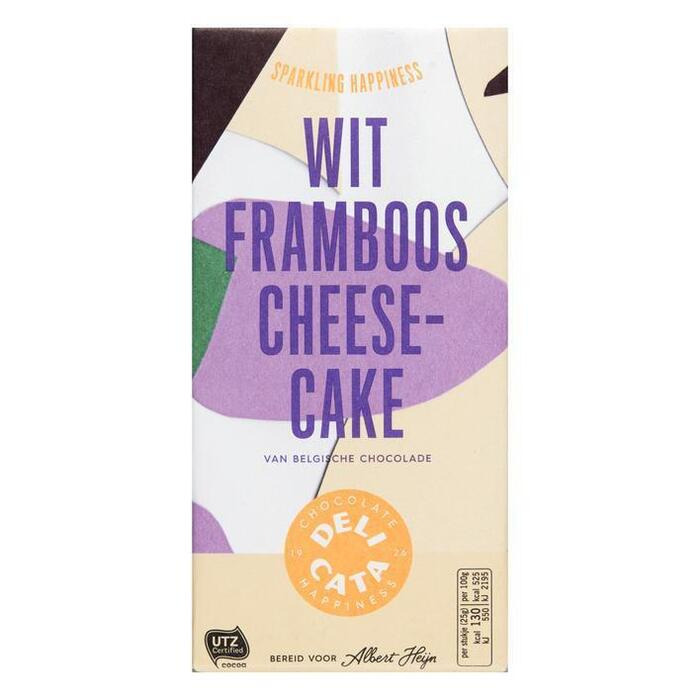 Delicata Reep wit - framboos - cheesecake (180g)