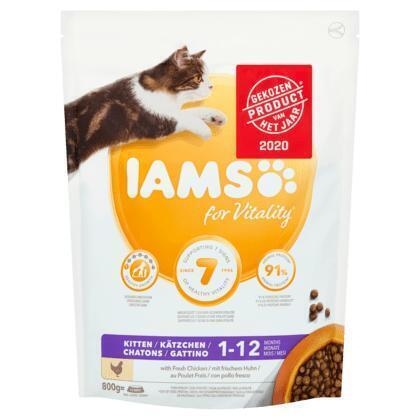 Iams for Vitality Kitten 1-12 Months with Fresh Chicken 800 g (800g)