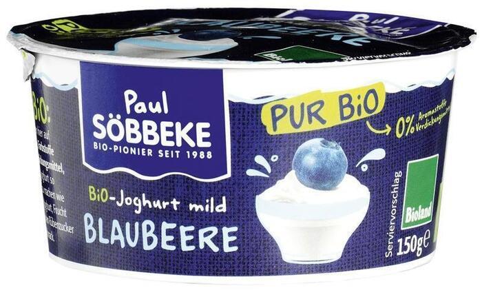 Pur blauwe bes yoghurt (150g)