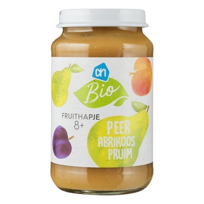 AH Biologisch Fruithapje peer- pruim abrikoos 8m (200g)